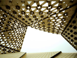 icon of parametric design architectural project, abstraction fabrication