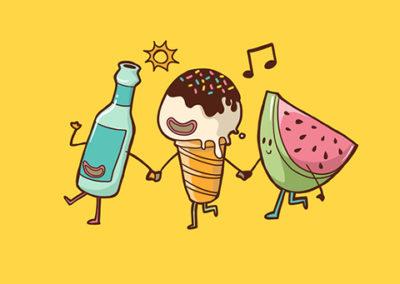 Breakfast Friends Illustrated